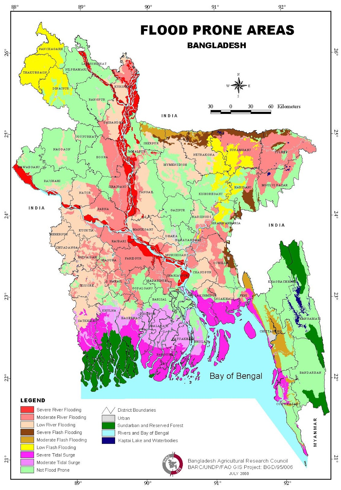 Flood Prone Area of Bangladesh