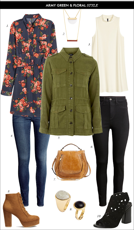 MILITARY JACKET & FLORAL