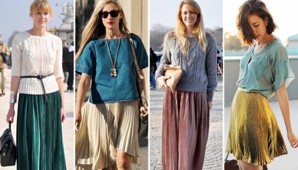 Modne kombinacije sa plisiranim suknjama