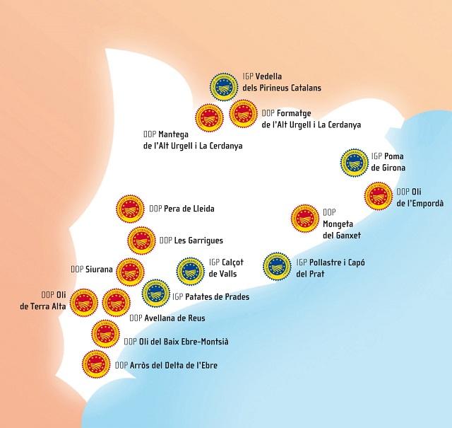 Mapa dels prodcutes de qualitat
