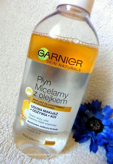 Garnier plyn micelarny z olejkiem, garnier demakijaz