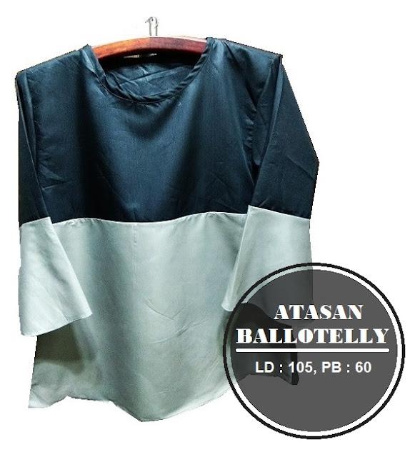 Atasan Ballotelly Kombinasi Hitam dan Silver