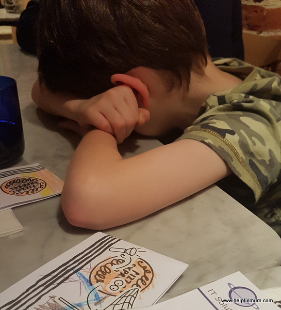 Asleep in Pizza Express