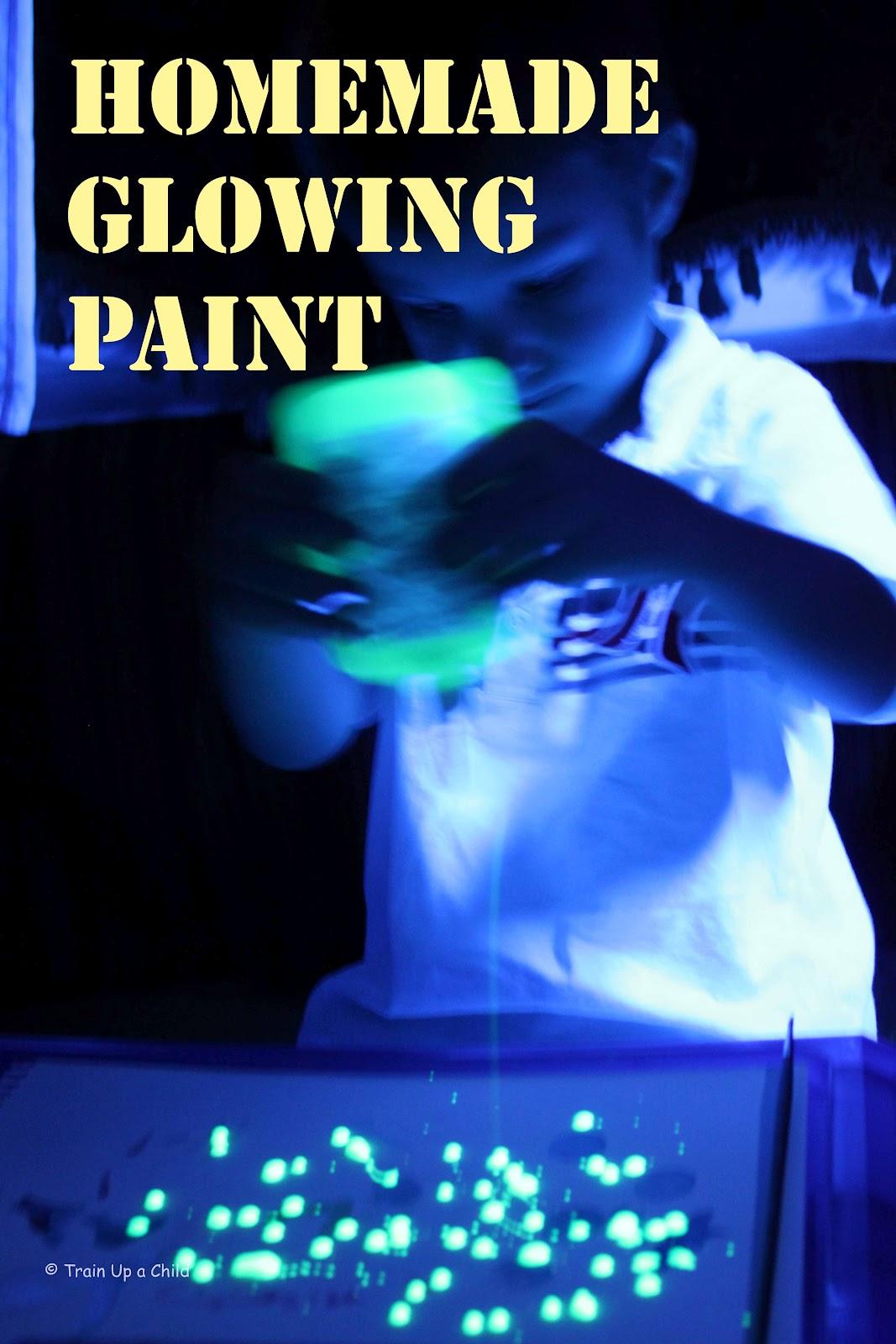 Homemade Glowing Paint Learn Play Imagine