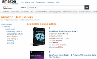 Cheap Video Editing Software on Amazon