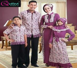 model baju batik pesta keluarga