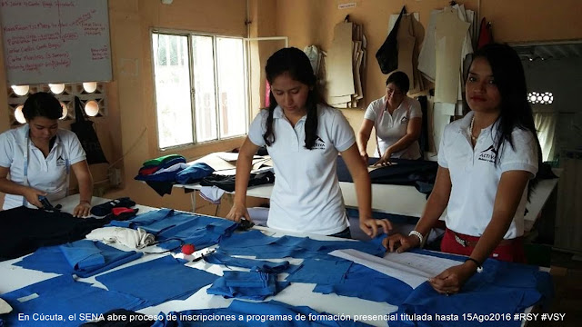 En Cúcuta, el SENA abre proceso de inscripciones a programas de formación presencial titulada hasta 15Ago2016 #RSY #VSY