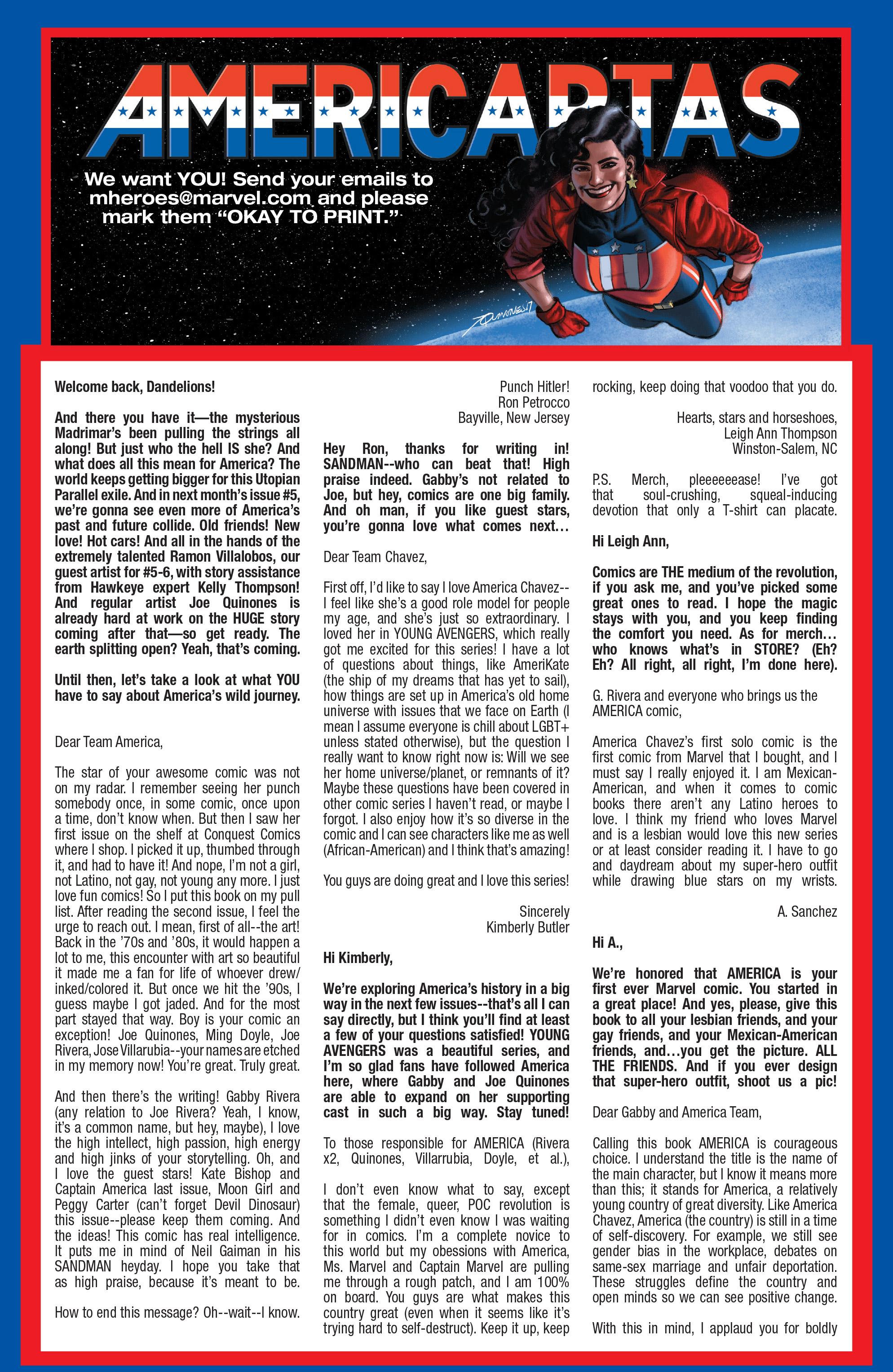 Read online America (2016) comic -  Issue #4 - 21