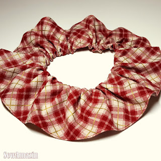Red Plaid Christmas Lodge Pet Neck Ruff