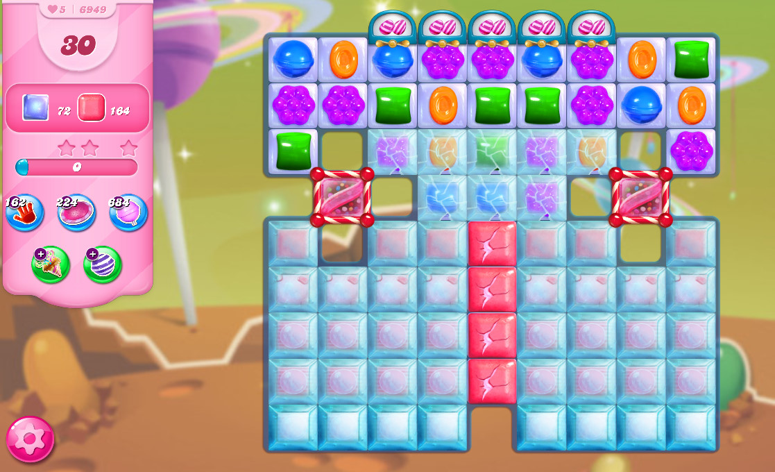 Candy Crush Saga level 6949