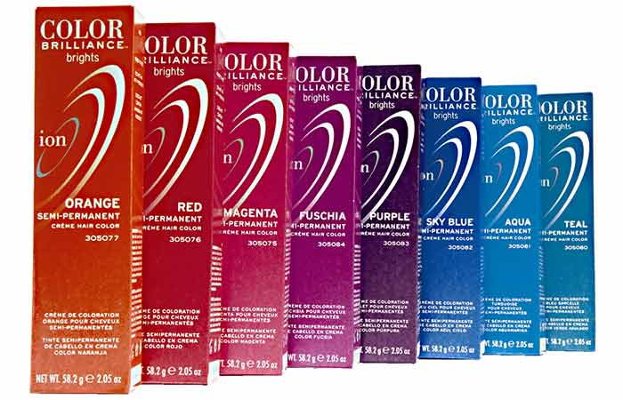 Semi Permanent Hair Color - Ion Color Brilliance Semi Permanent Brights Hair Color