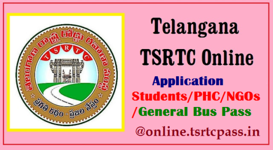 TSRTC Students/PHC/NGOs/General Bus Pass Online Application Form Apply Process @online.tsrtcpass.in Process for How to Apply Online for FREE Bus Pass for Student from Telangana State Road Transport Corporation TSRTC | Apply Online for TSRTC Students Free Bus Pass for Monthly/Quarterly Online Mode Only | Click here for Step By Step Process How to Apply for Students Bus Pass Official website to Apply Online For Students Free Bus Pass from TSRTC tsrtc-student-free-bus-pass-online-application-form/2017/07/apply-online-for-tsrtc-student-free-bus-pass-online-application-form-apply-process.html
