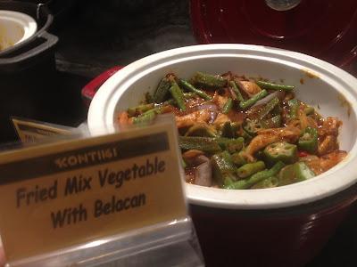 Masakan jenis sayur campur belacan