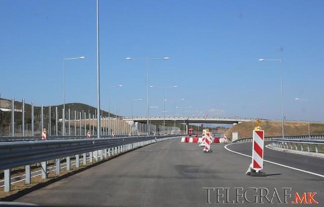 Autobahn Teilstück ab Demir Kapija fast fertig