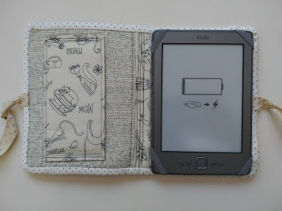 funda e-book, case, protége e-book, costura, couture, sewing, travel, viaje, voyage