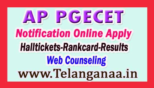 AP PGECET 2017 Notification Exam Dates Application Admission Admitcard Results @ appgecet.org