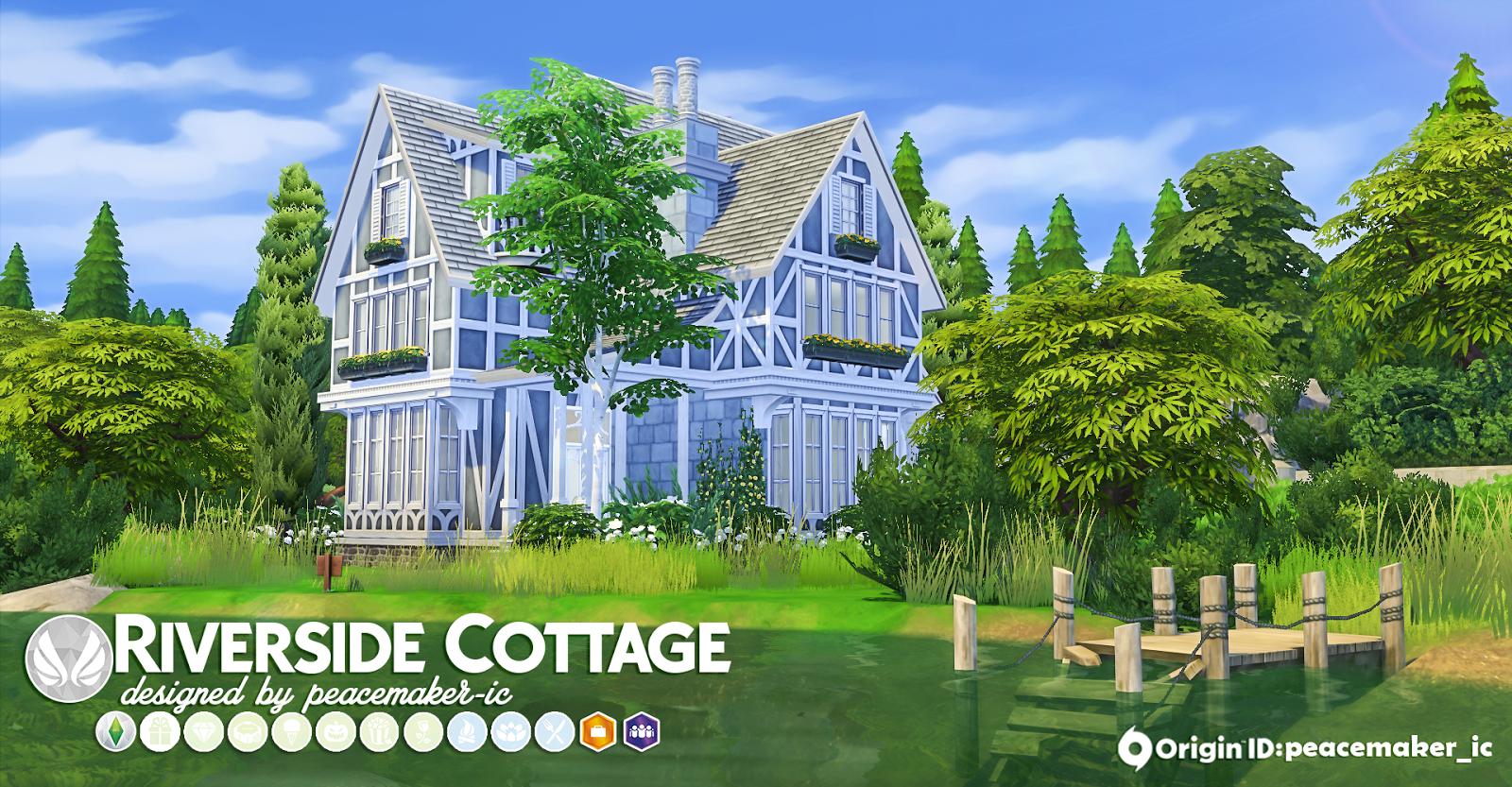 Simsational Designs Riverside Cottage