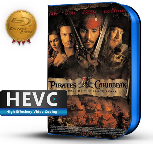Pirates of the Caribbean: The Curse of the Black Pearl (2003) 1080P HEVC-8Bits BDRip Latino/Ingles(Subt.Esp)(Aventura)