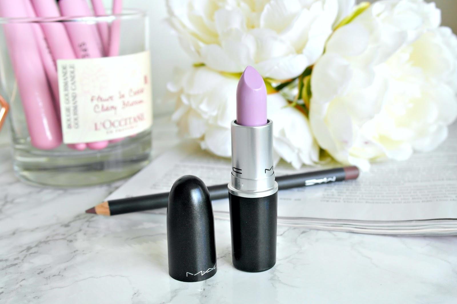 MAC Courting Seduction lipstick, MAC Stone lip liner