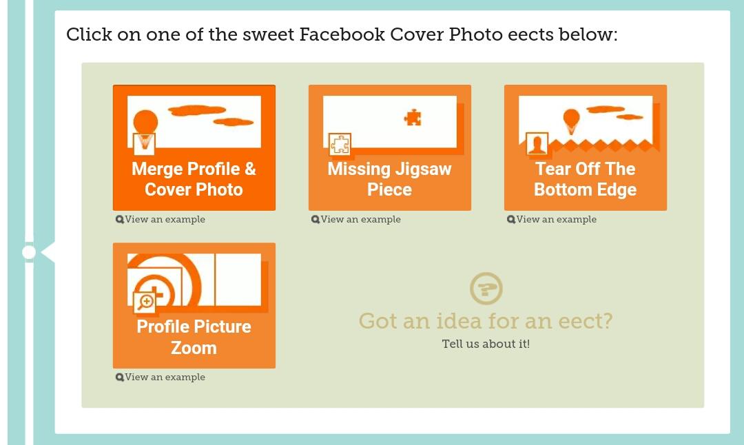Combine facebook profile picture