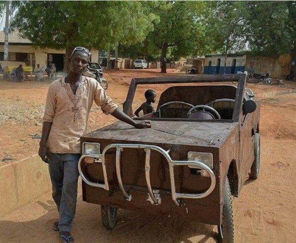 Nigerian SS3 Student Builds Car From Scrap In Kebbi State