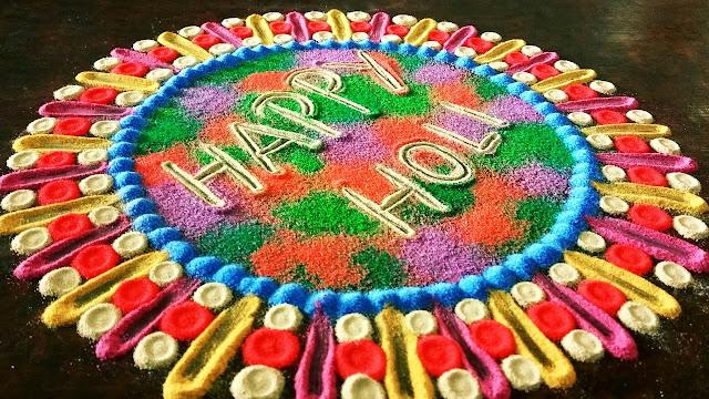 Happy Holi Rangoli Images