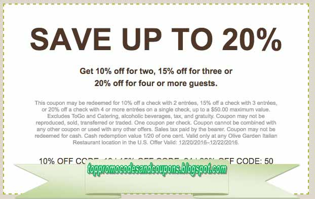 olive garden coupon codes feb 2019