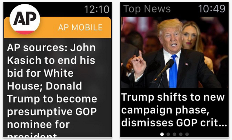 AP Mobile Apple Watch app