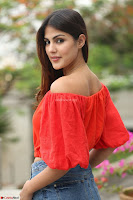 Rhea Chakraborty in Red Crop Top and Denim Shorts Spicy Pics ~  Exclusive 200.JPG