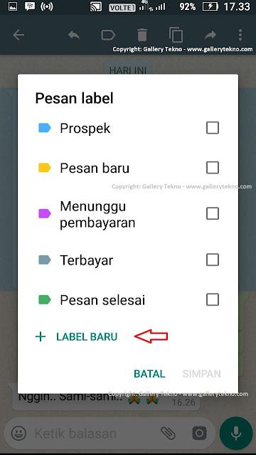 Cara Menandai Pesan Berdasarkan Label di WhatsApp Business