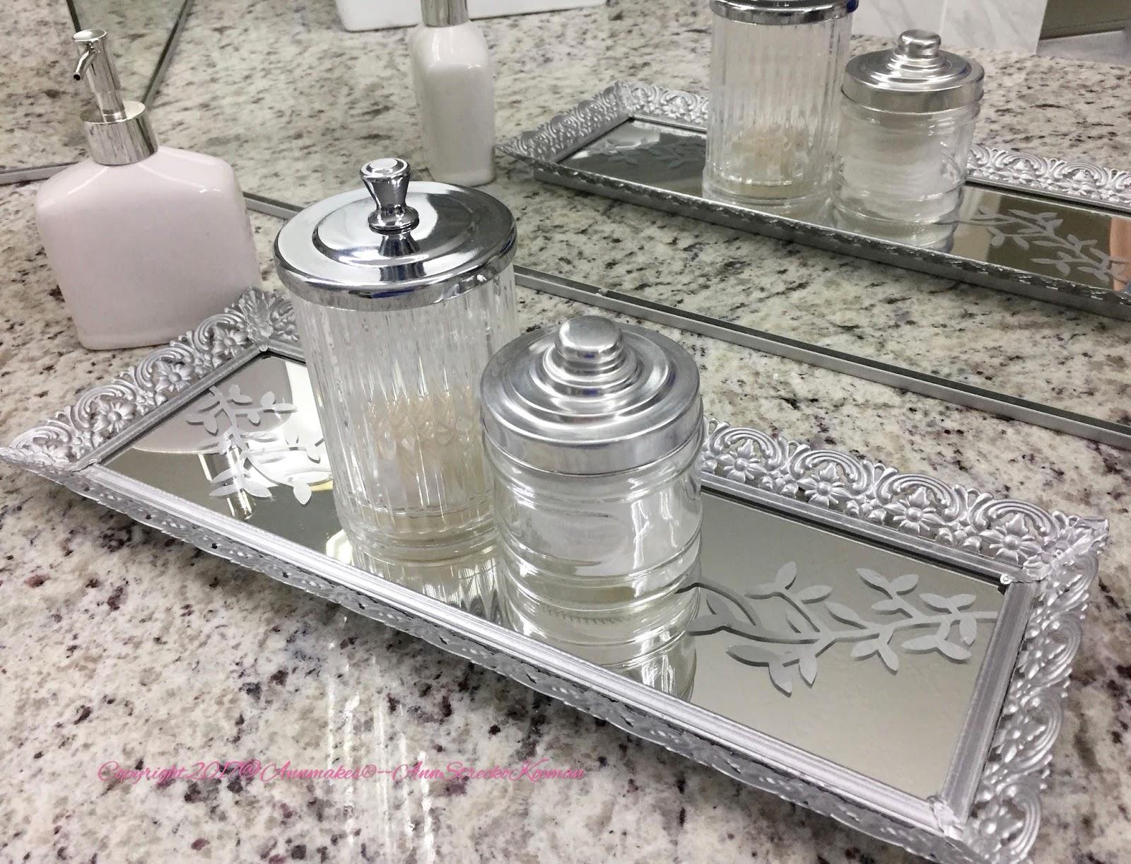 Annmakes Create with Cricut Bathroom Vanity Mirror Tray