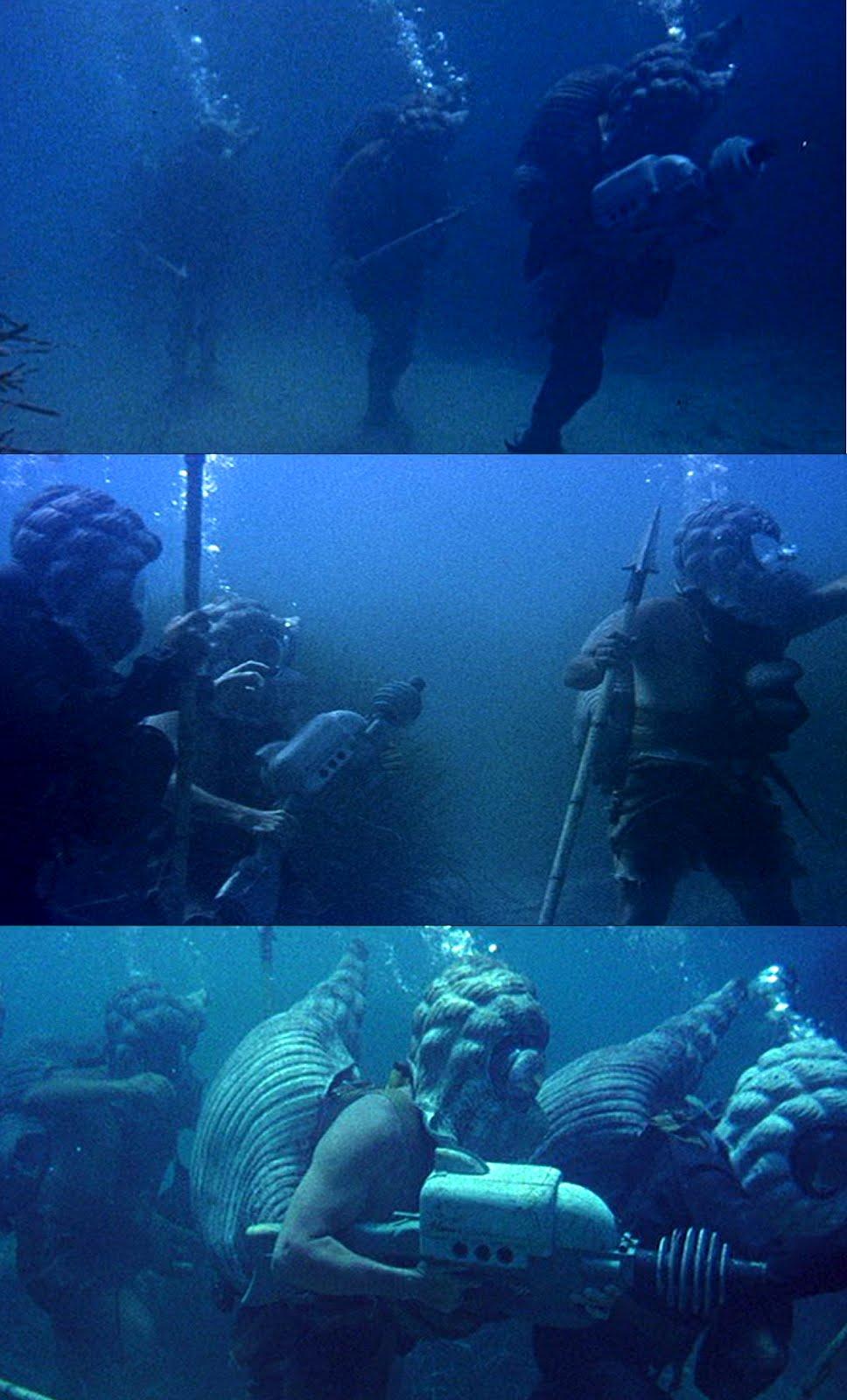 Deep throat underwater