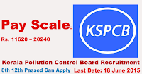 "KPCB ""Kerala Pollution Control Board"" Recruitment 2015"