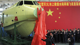 AG600- World's largest amphibious aircraft makes its first flight in China
