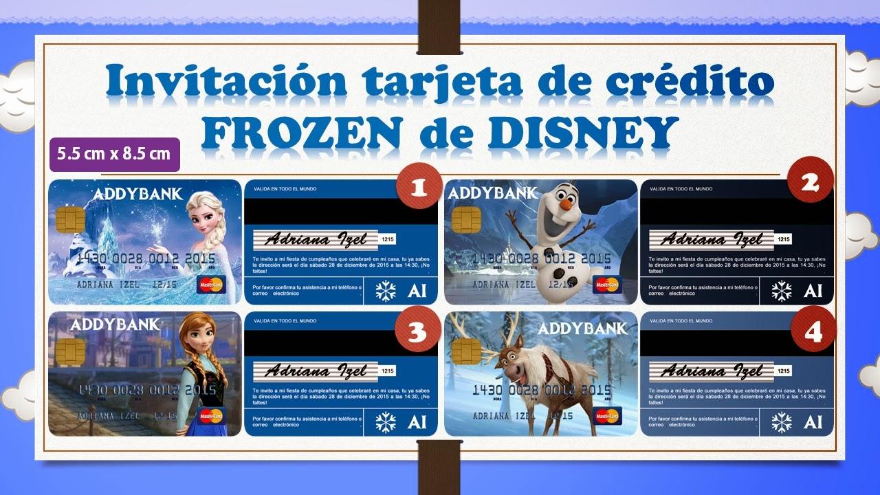 Invitaciones Personalizadas Fiesta De Papel Iptc 001 Frozen