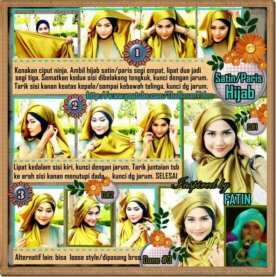 Tutorial Hijab Paris Double Untuk Pesta