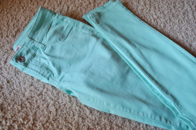 charlotte russe mint pants, mint leggings, redfuge