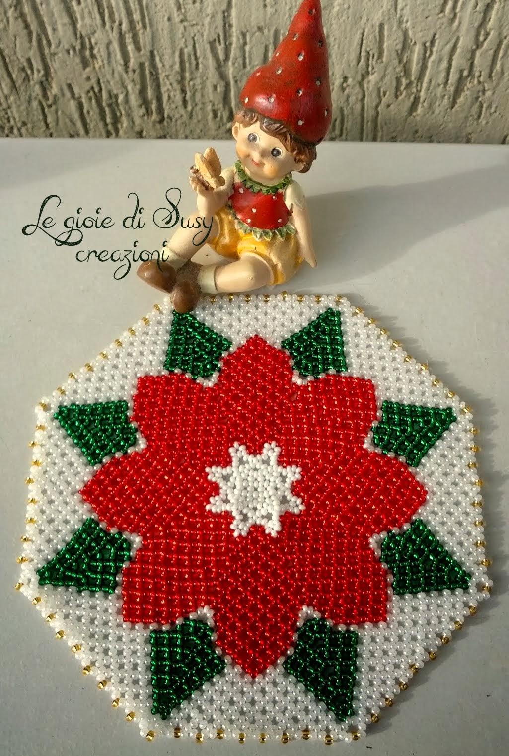 Stella Di Natale Con Perline.Centrino Stella Di Natale Con Le Meravigliose Rocailles Preciosa Ornela
