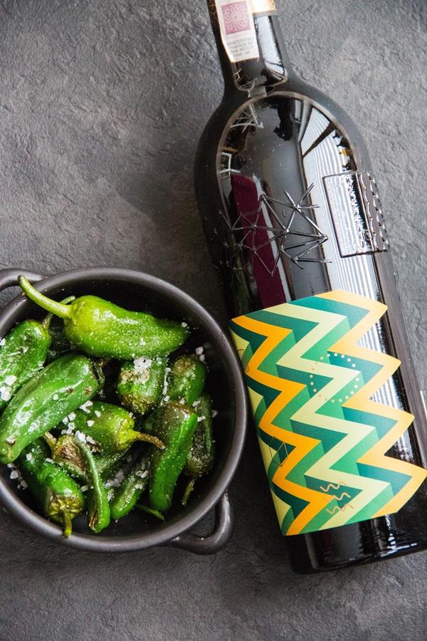 zielone hiszpańskie papryczki