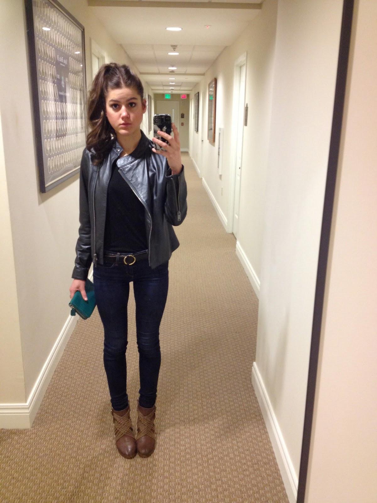 Black Leather Jacket Women Outfit Wallpaper Hd
