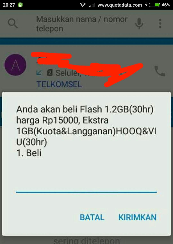 Paket Telkomsel Flash 1 2gb 15rb Terbaru 2019 Quota Data