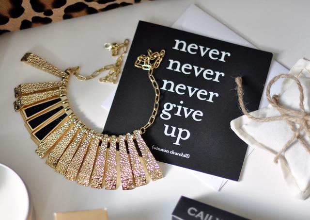 gold kara ross necklace