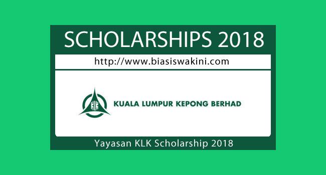 Yayasan KLK Scholarship 2018