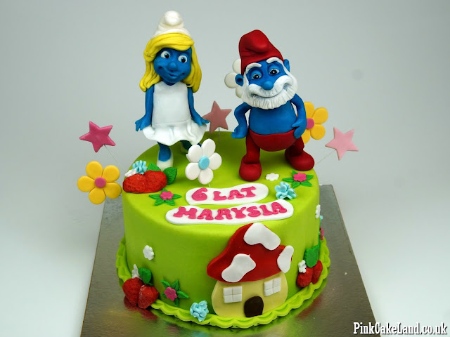 the smurfs cakes london delivery