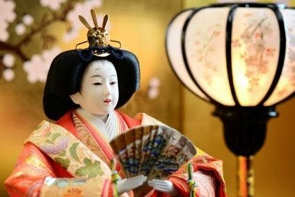 Mebina Empress Doll at the Hina Matsuri Doll Festival, March 3, Japan.