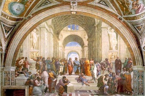 The School of Athens by Raphael, 1505