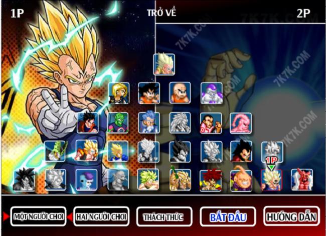 7 Vien Ngoc Rong 2.8 - chọn nhân vật chơi game