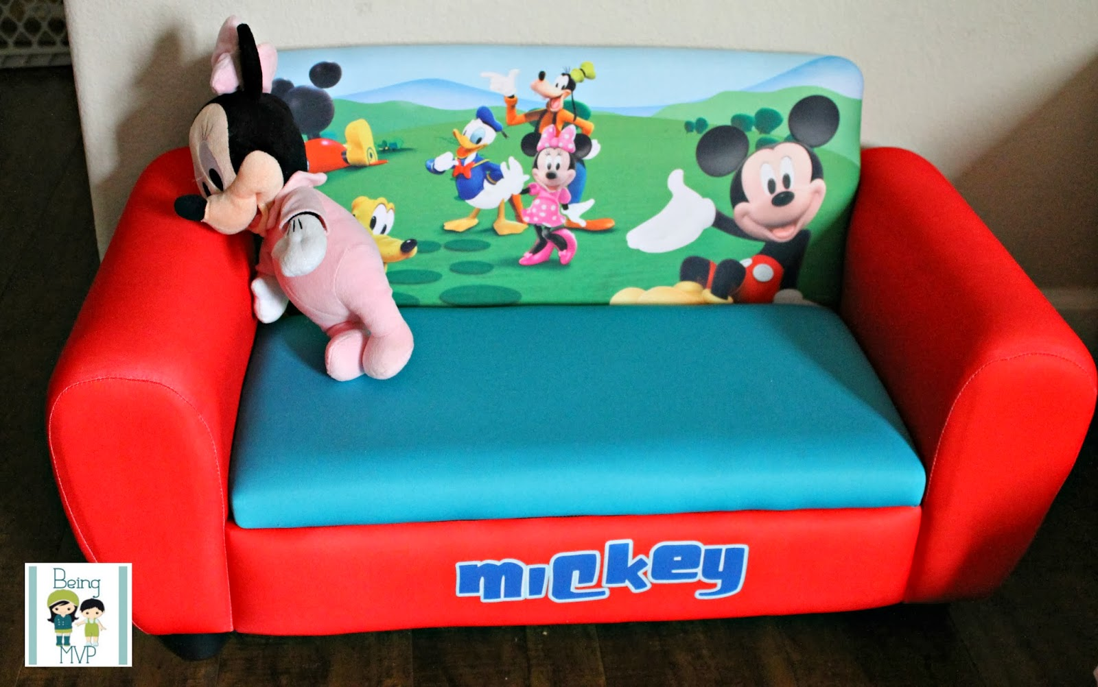 Mickey Mouse Upholstered Sofa for Tiny Tots to Chill On @deltachildren & being MVP: Mickey Mouse Upholstered Sofa for Tiny Tots to Chill On ...