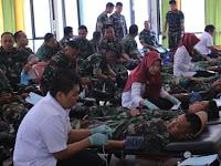 Peringati HUT ke-72 TNI, Brigif Raider 9 Kostrad Gelar Bhakti Sosial Donor Darah