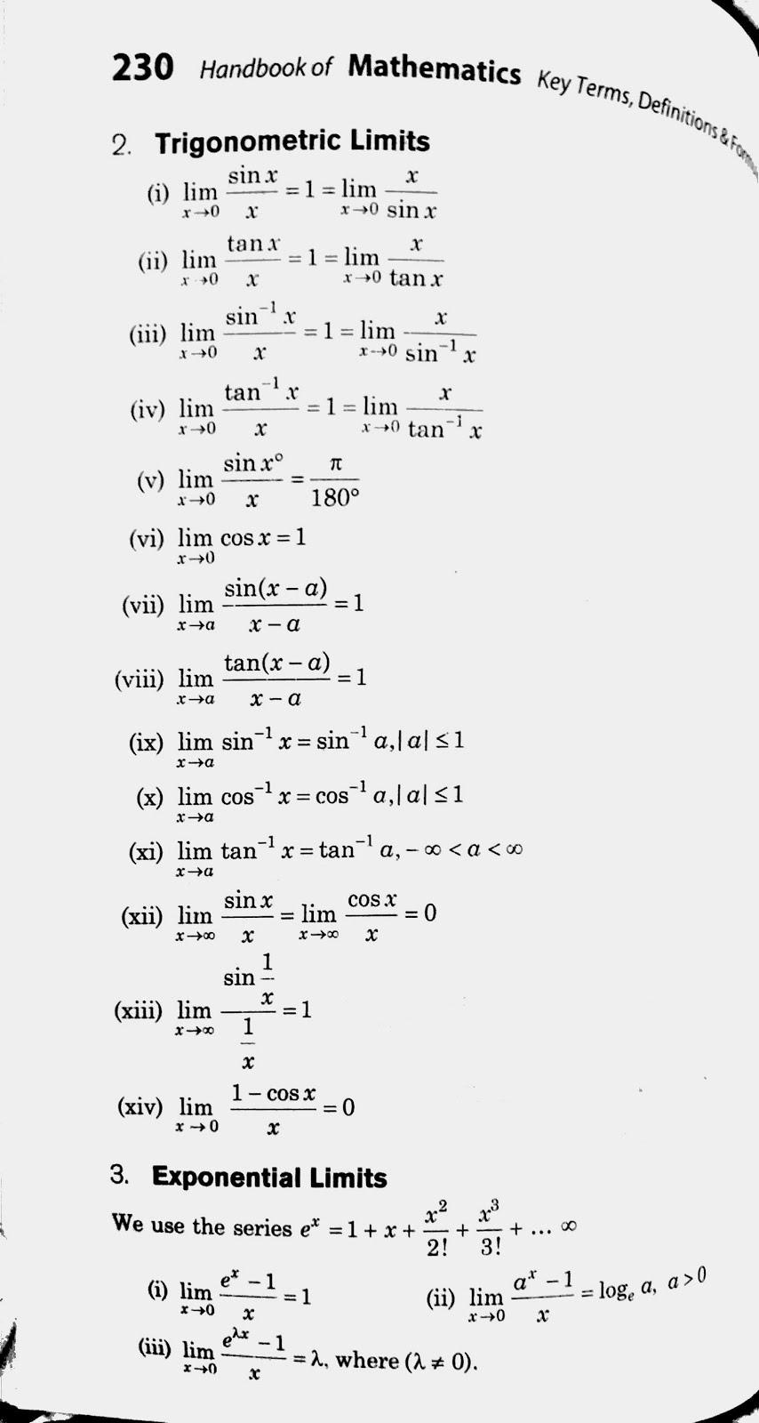 12th Maths Formulas Pdf State Board
